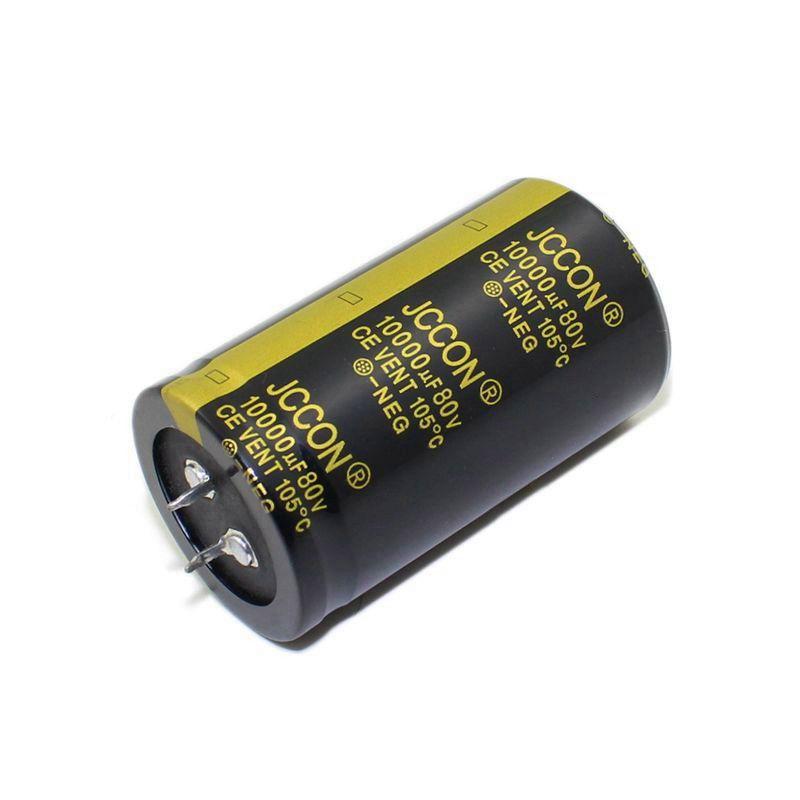 JCCON القرن الألومنيوم مكثف كهربائيا حجم 80v10000uf 35 * 60 الصوت الصوت مكبر للصوت