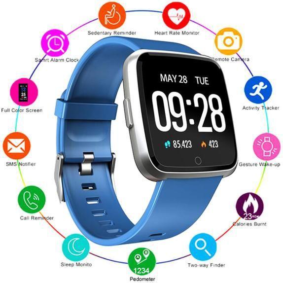 1PCS Y7 inteligente aptitud pulsera Mi banda 4 Oxígeno Presión Arterial Deporte Rastreador inteligente reloj monitor de ritmo cardíaco pulsera para Hombres Mujeres iPhone