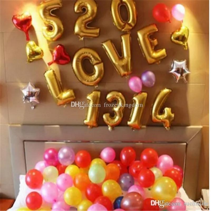 40inch 0-9 Number balloons Toys for Wedding Birthday Christmas Party Decoration Fashion Hot Foil Balloon 50Pcs=1Number=1Bag 2017090507