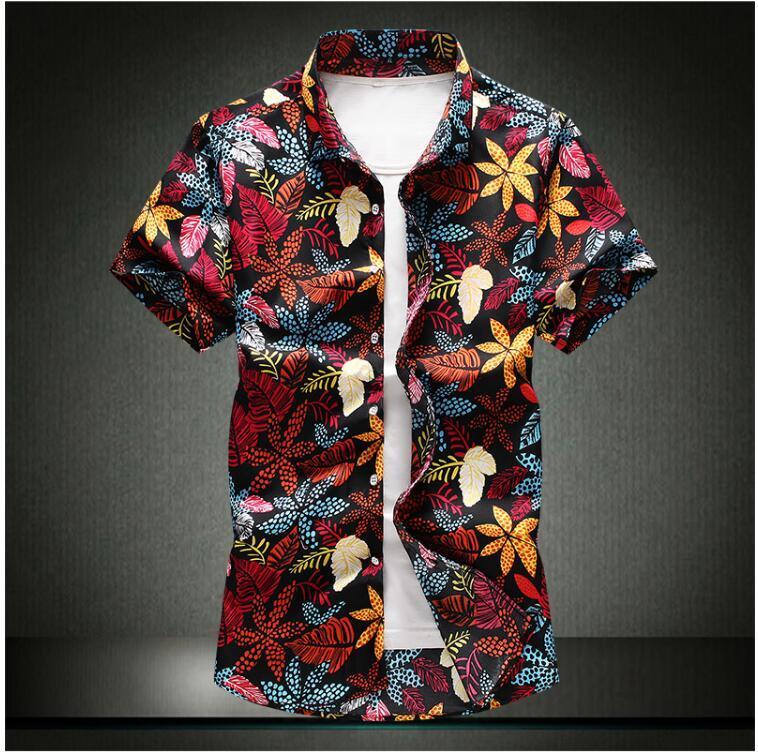 게다가 대형 사이즈 4XL 남성 비즈니스 캐주얼 짧은 소매 셔츠 클래식 스트라이프 남성 사회 드레스 셔츠 퍼플 블루