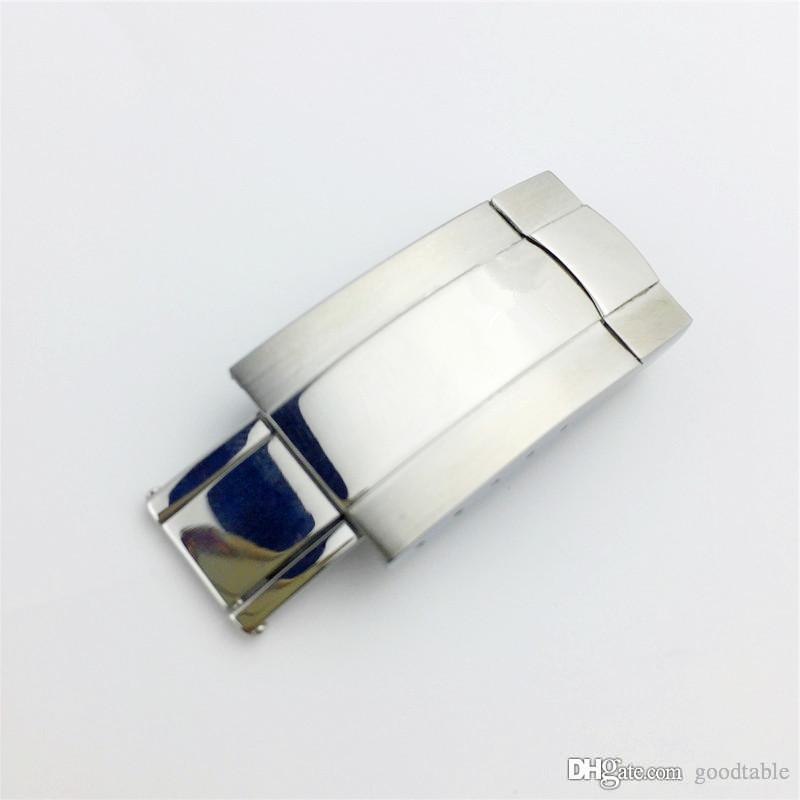 Goodtbale assista prata faixa de relógio 16mm 18mm nova pulseira de relógio pulseira de fivela