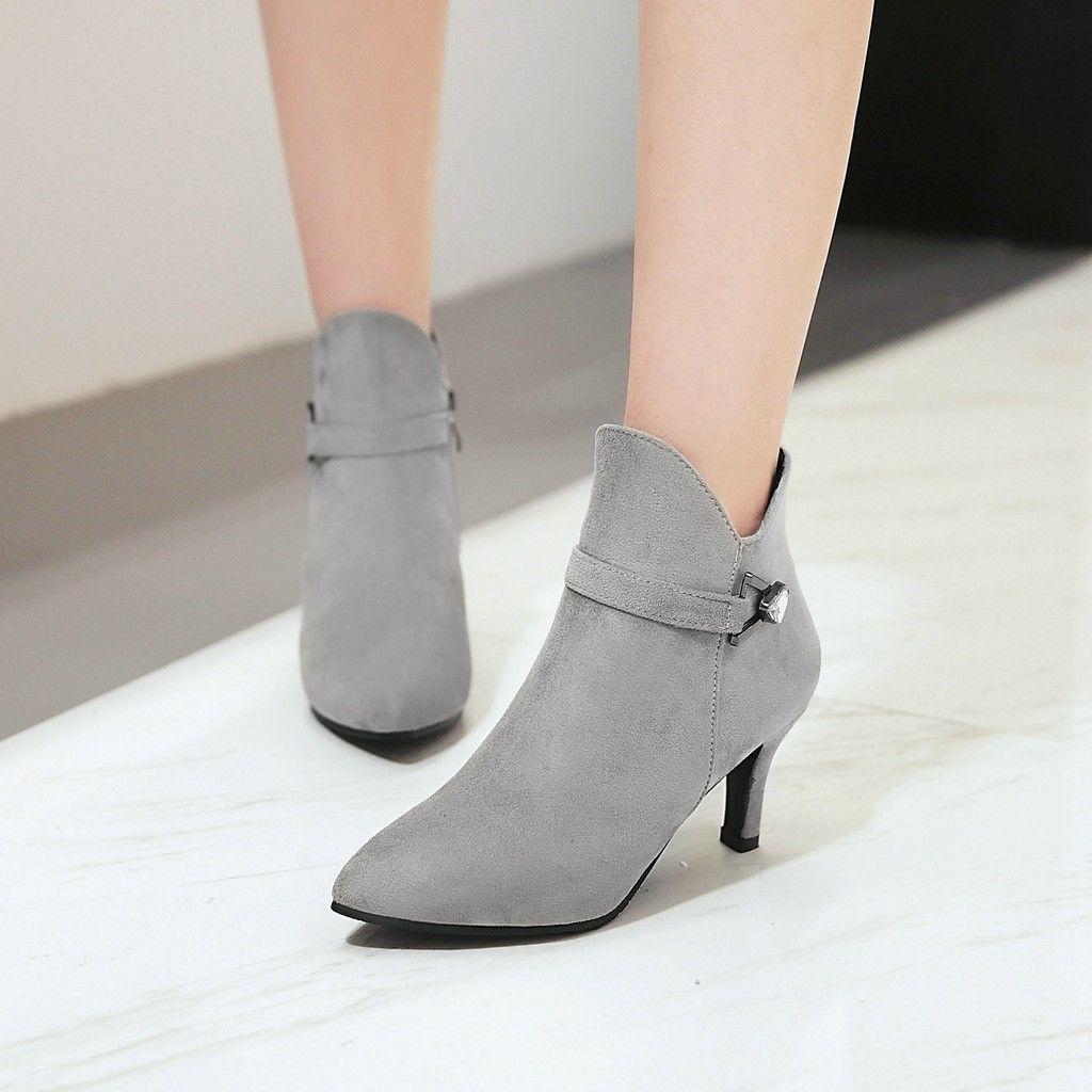 Hot gattino Sale-LBE131404A con un punta di strass cerniera ankle boots di nozze in autunno e in inverno