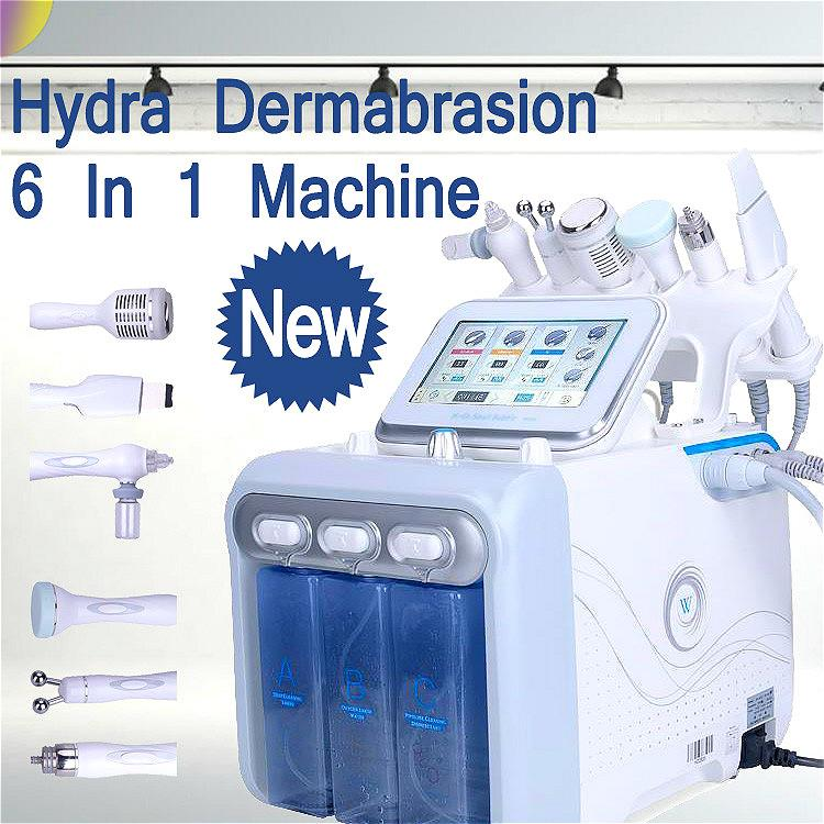 New Arrival Dermabrasion Machine 6 In 1 Diamond Dermabrasion Oxygen Injector for Head Spot Removal Microdermabrasion Hydrafacial Machine