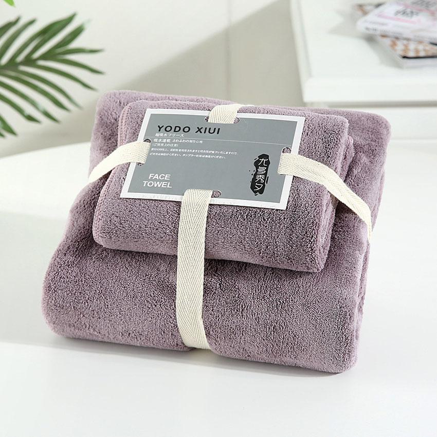 Coral velours absorbantes serviettes de bain pour adultes Serviette de bain Serviette de bain Set souple confortable Serviette de bain Set 70 * 140 11 couleurs T200529