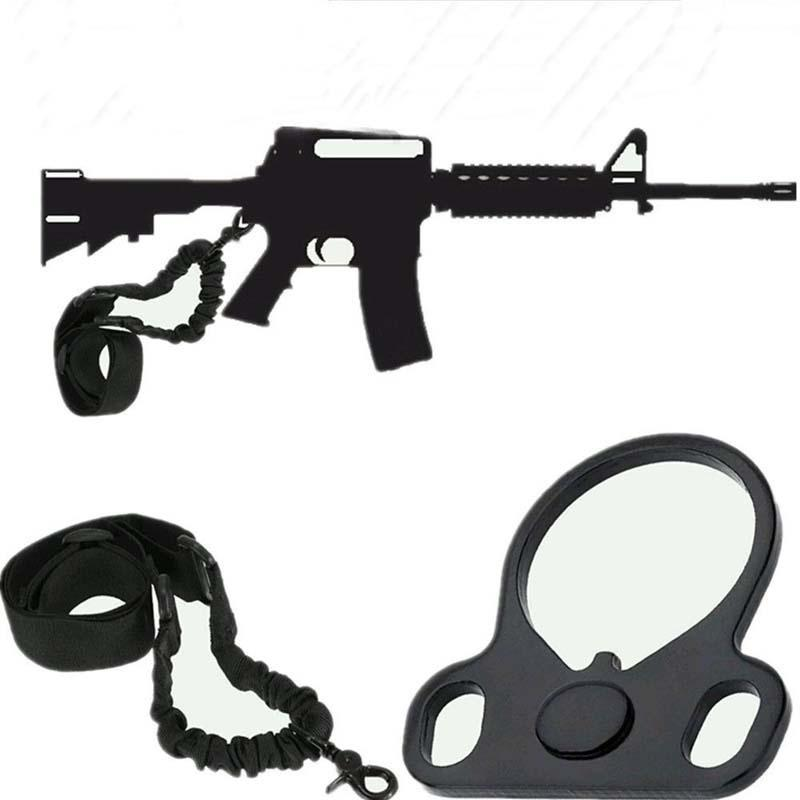 Airsoft Single Point Sling Boucle Adaptateur Sangle Support universel fusil Buttstock