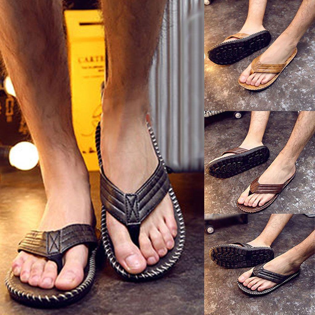 2019 Comfort Sandals Summer Men Beach Breathable Shoes Flip Flops Sandals open Toe Male Slipper Flip-Flops Flat Shoes