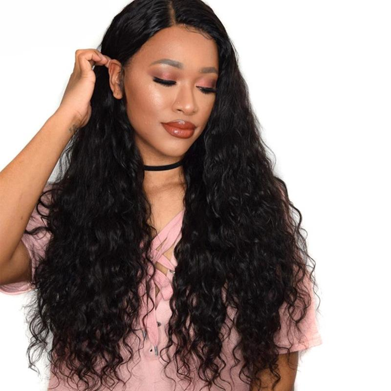Pré arrancada completa humano laço perucas de cabelo com cabelo do bebê 180% Densidade solto Aceno Glueless perucas completas do laço For Women Remy