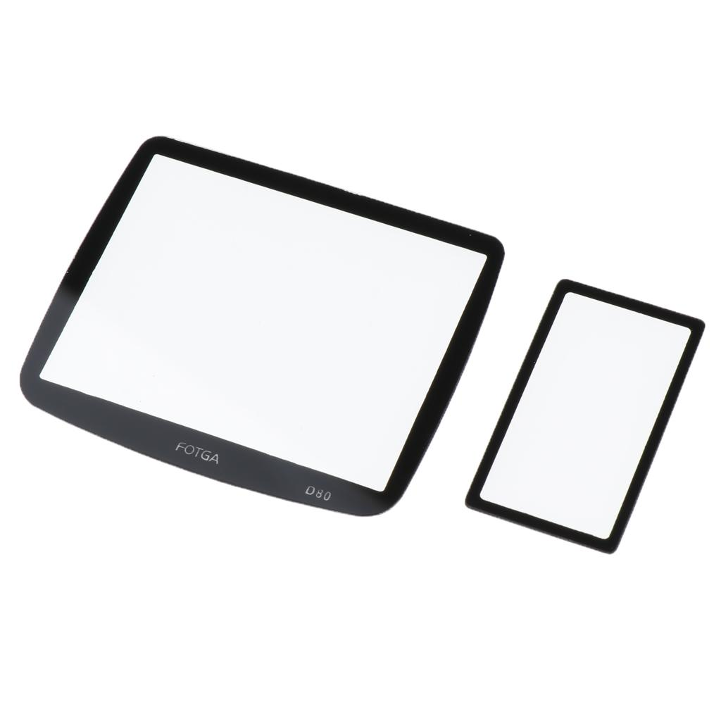 Optical Tempered Glass Hard Protective Film Cover For Nikon D80