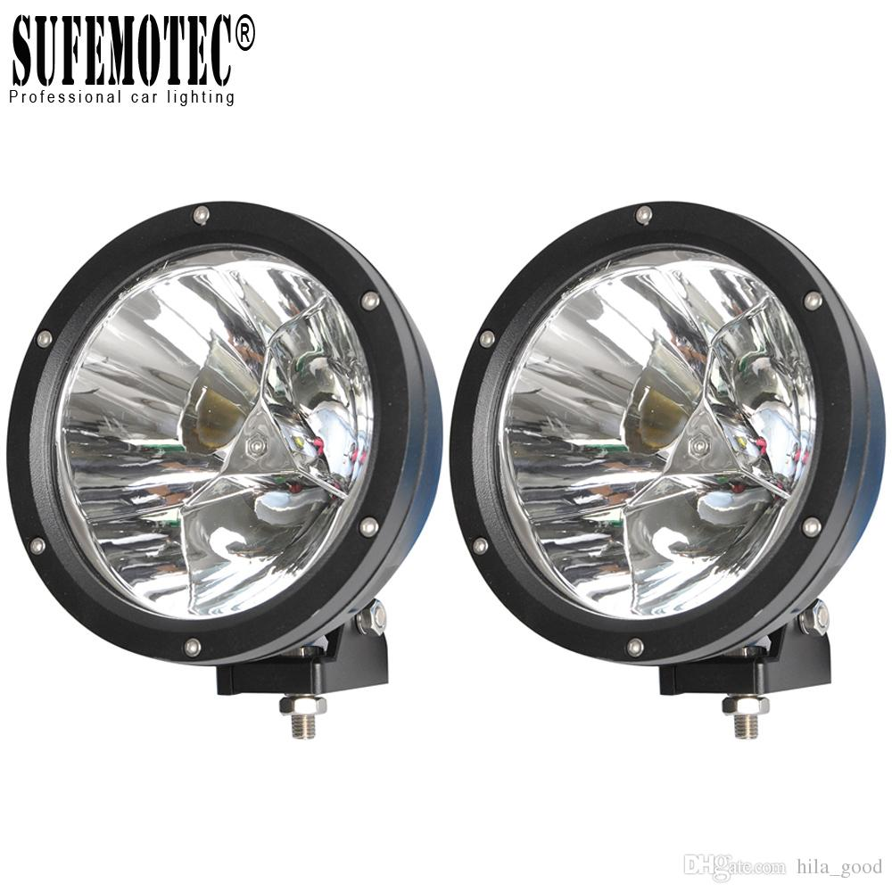 2Pcs 7 Inch 45W Led Light Pods Spot Beam for Car 4x4 Offroad Motorcycle 4WD ATV SUV UTE Truck Driving Headlights 12V 24V