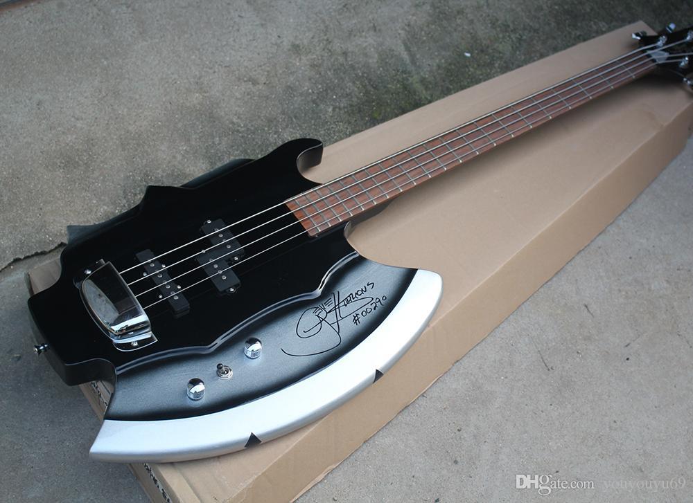 Axt 4 Saiten E-Bass mit Unterschrift, 3 Tonabnehmer, 21 Bünde, Palisander, No Inay, Angebot von Personendiensten