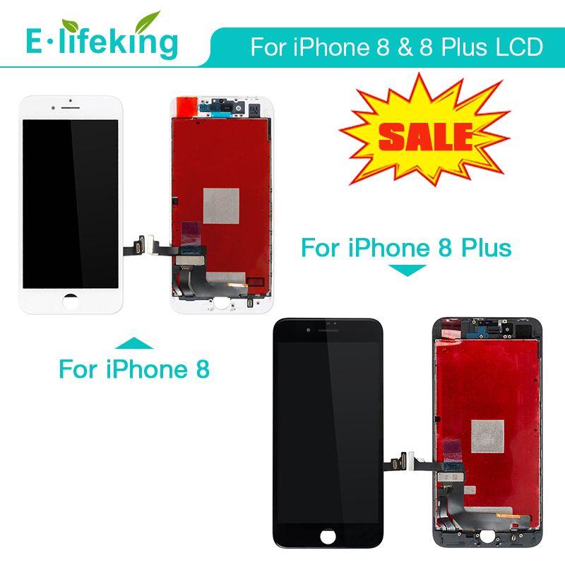 IPhone 8 8 Için LCD Ekran Artı Dokunmatik Ekran Digitizer Meclisi Parçaları LCD Değiştirme 100% iPhone 8 P Ekran Için Test
