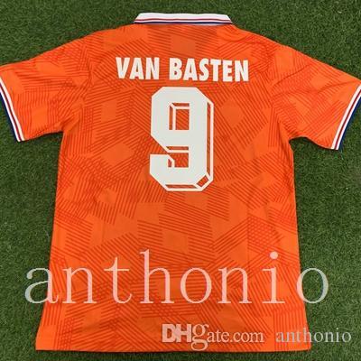 Top 1991/92 Hollands Rétro Soccer Jerseys Star Van Basten 9 Rijkaard 4 Gullit 10 Cruyff 14 Koieman Seedorf Chemises de football Pays-Birgamp Kluivert Taille S-XXL