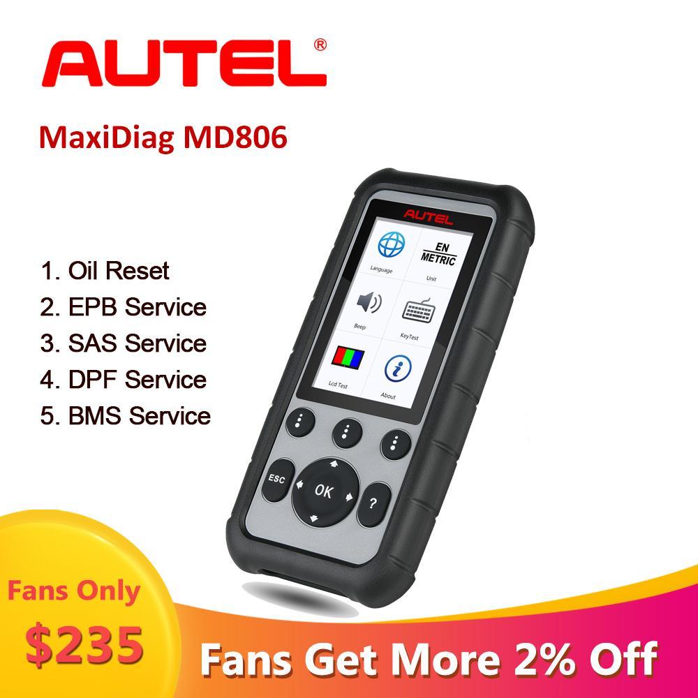 أداة تشخيص و MaxiDiag Autel MD806 السيارات OBD2 الماسح الضوئي السيارات OBD 2 المهنية ماسح السيارات Automotivo م البرتغالية