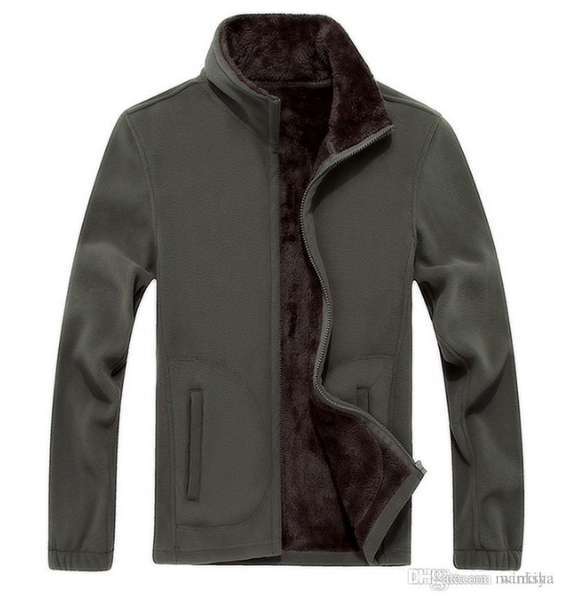 6XL 7 8XL nuevo Mens Softshell Polar Informal caliente chaquetas de invierno de los hombres chaqueta de lana con capucha termales sólido espesa Marca Ropa
