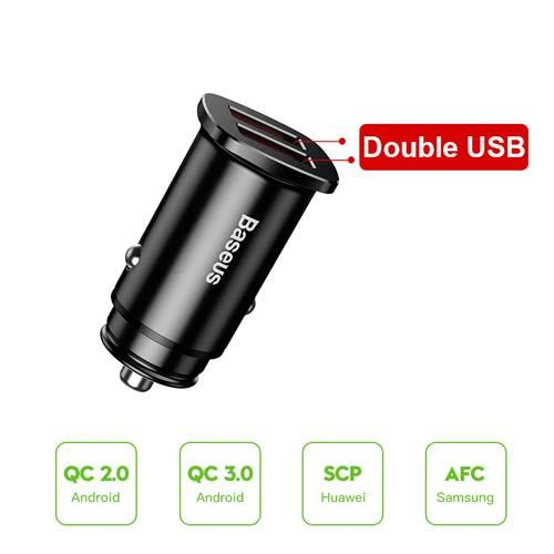 Baseus 30W Quick Charge 4.0 3.0 Car Charger For IPhone 11Pro