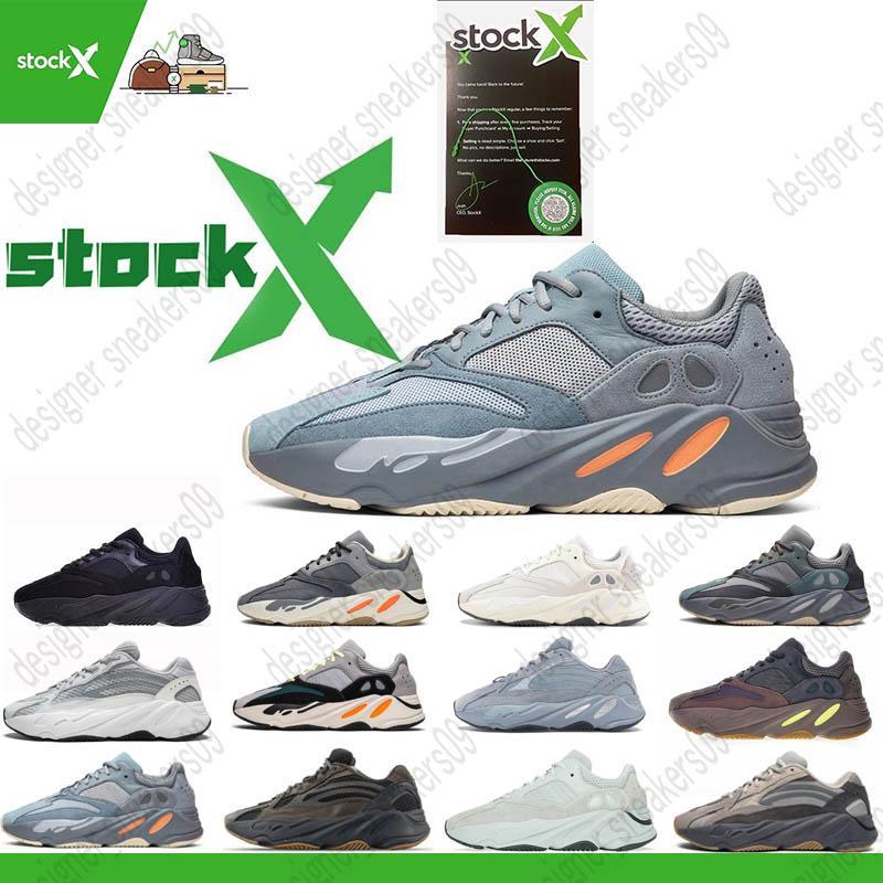 700 Sapatos De Corrida de inércia Mauve Para mens Kanye West 700 Mulheres Sapatos de desporto inércia Tephra cinzento sólido utilitário Preto Vanta