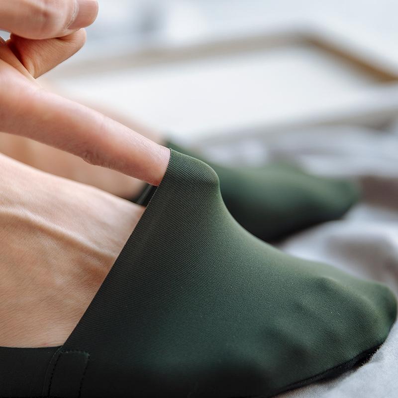 VBH7V Frühling und trendy Ärmel kurze Taille der Männer rutschfeste Bootssommermänner Socken Silikon lässiger Schnitt Socken