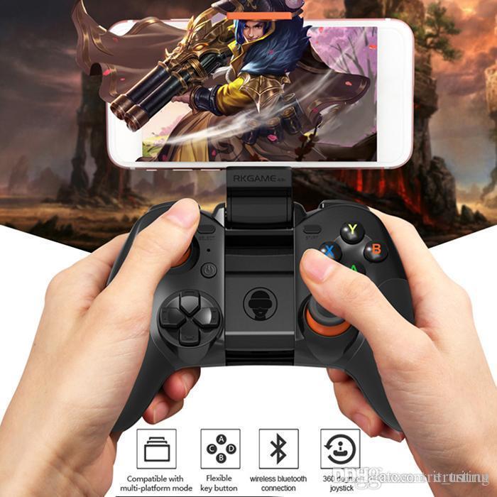 Jeu RK 4ème Bluetooth Gamepad sans fil 4.0 Joystick Prise en charge de deux modes pour IOS / Pour le contrôleur de jeu Android Joypad MQ10