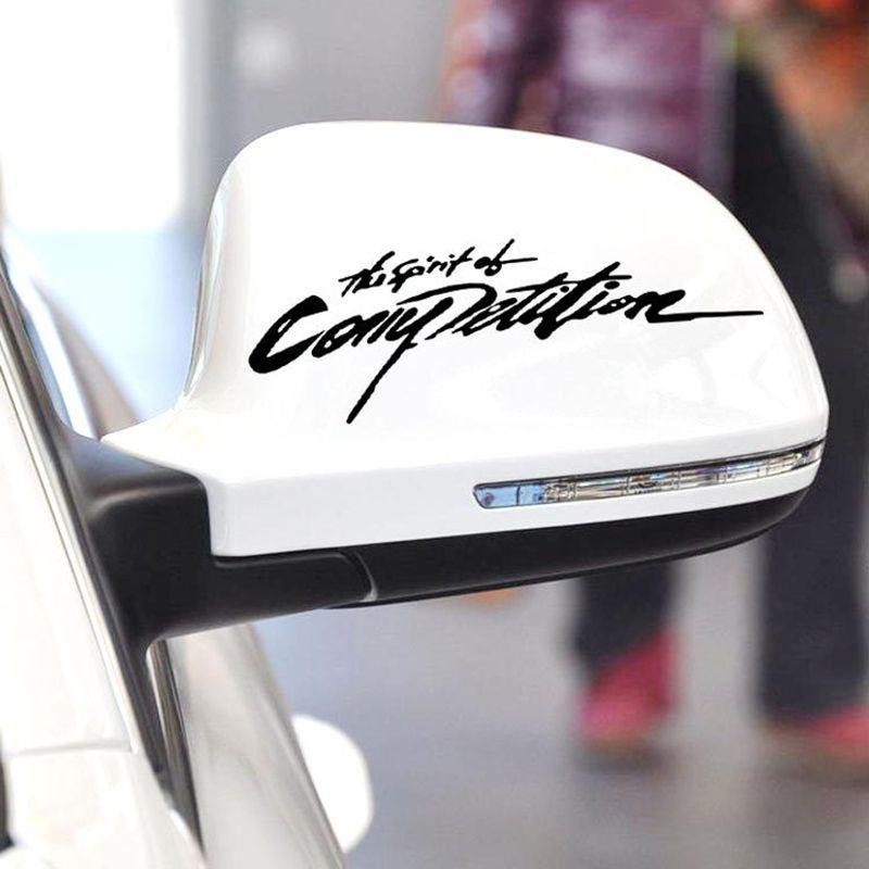 Araba Harf Motosiklet Oto Çıkartması Rekabet Yarışları Araba Vücut Çizgili Ayna Sticker Araba Aksesuarları Ruhu üzerine Çıkartma