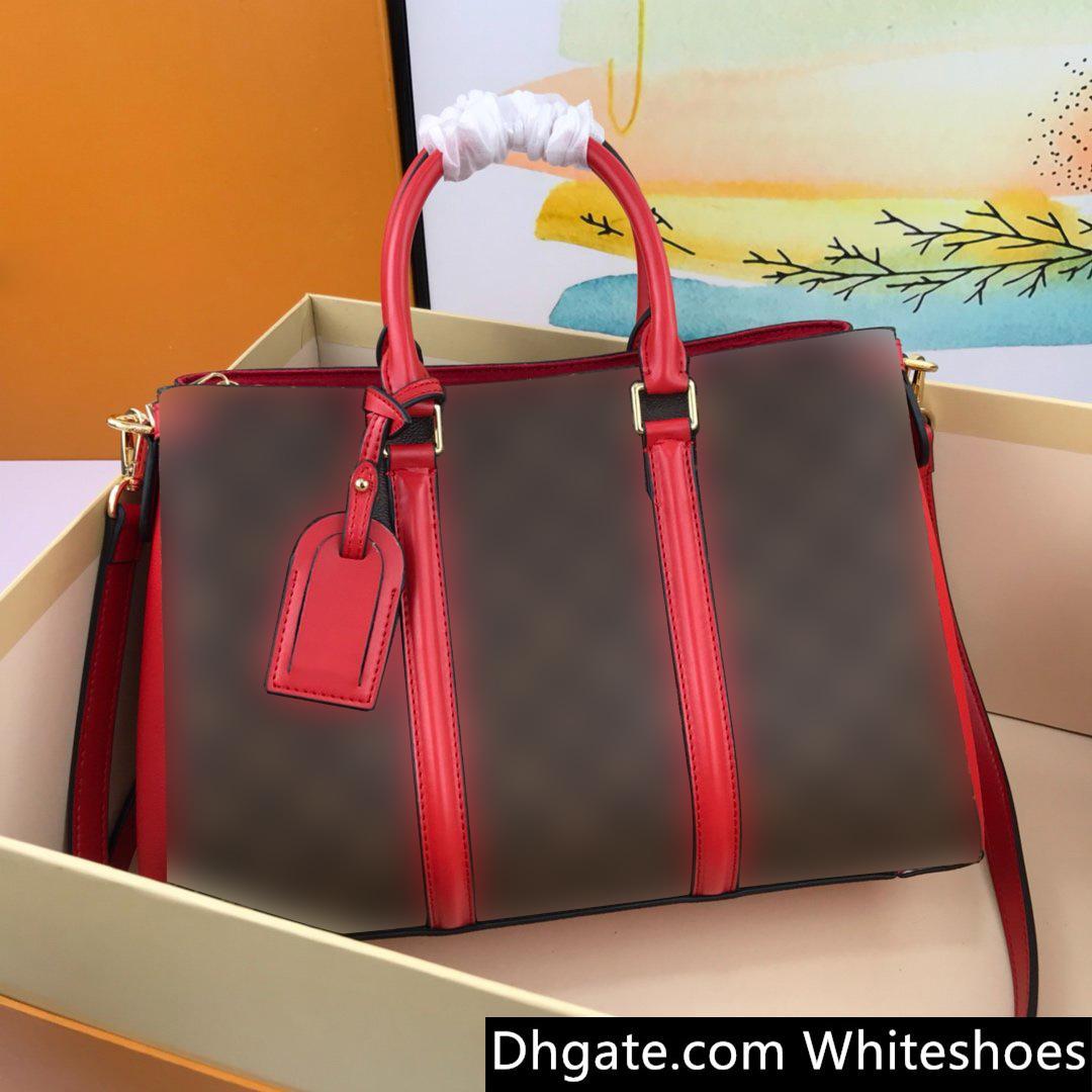 Novo saco mulheres designer mala Shoulder Bag Crossbody Bucket Bag Genuine Leather Monogram Canvas Extensão de ombro destacável cinta larga