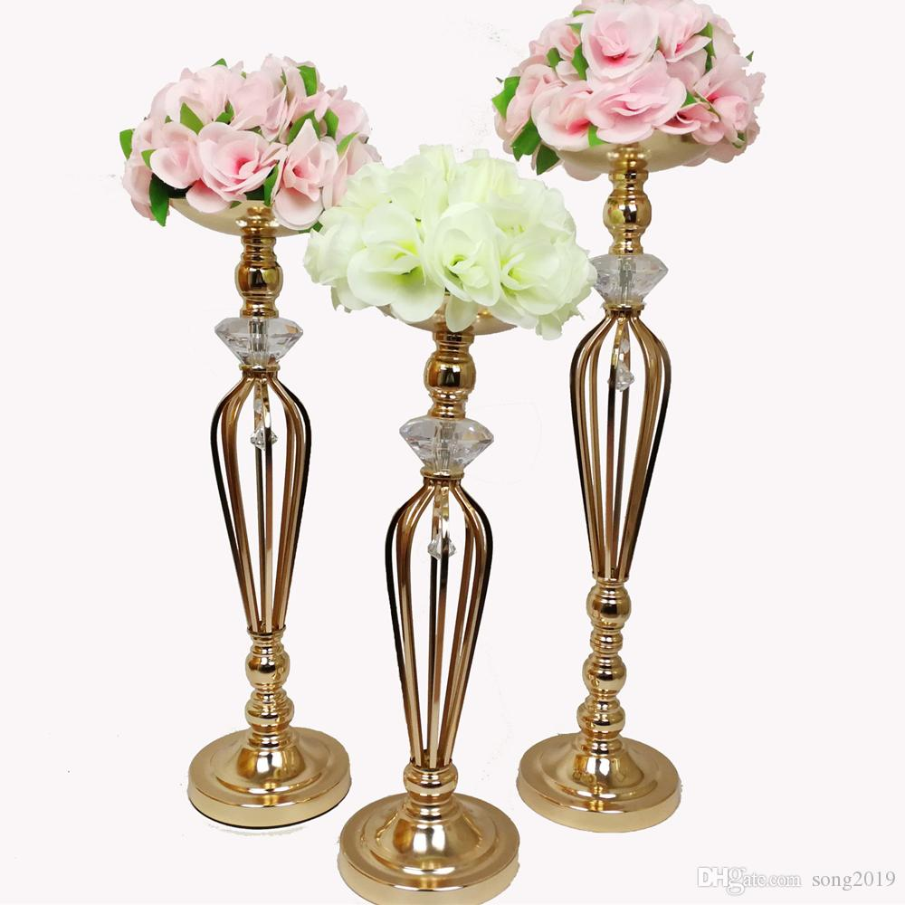 Vases Candle Holders Flower Rack Stands Wedding Decoration Road Lead Table Centerpiece Pillar Candlestick For Party Event