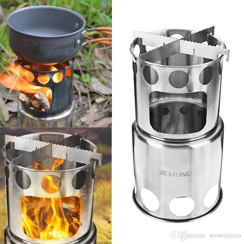 Portable Outdoor Camping Alcohol Wood Picnic Stove Burner Furnace Cooker Gray UK