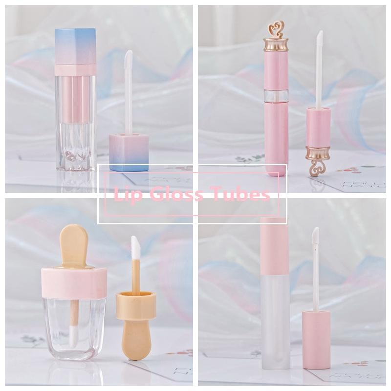 Mädchen Lip Gloss Rohre aus Kunststoff Tint DIY Leer Makeup Paket Lipgloss Flüssigkeit Lippenstift Fall Schönheit Verpackung HHAa103