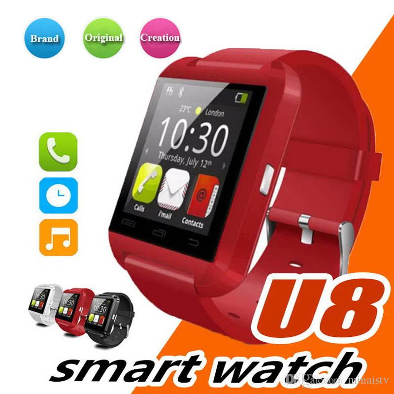 Hot Sale Smart Watch U8 U Watch Smart Watches For iOS Apple Smartwatch iPhone Samsung Sony Huawei Android Phones