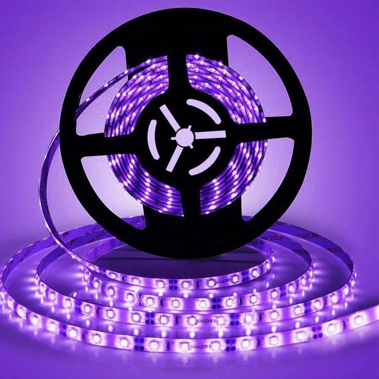 Striscia UV LED 12V luci impermeabili SMD 5050 lampada UV 1M / 60LEDs per dell'interno fluorescente Dance Party, illuminazione della fase, Pittura del corpo