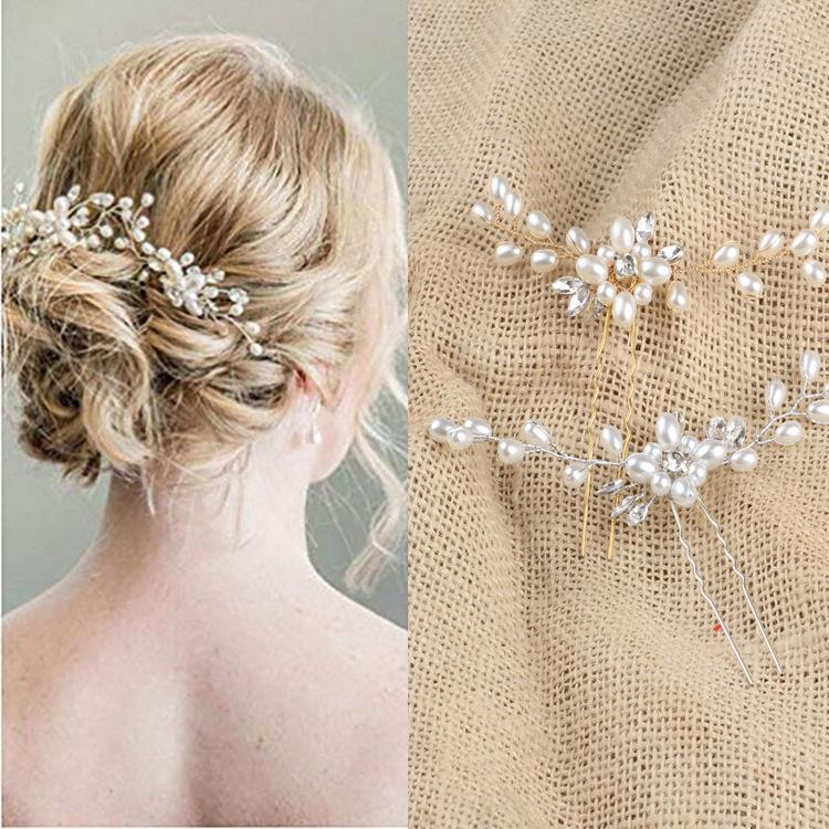 New foreign trade hair accessories wholesale European and American fashion popular models alloy crystal flowers hot sale