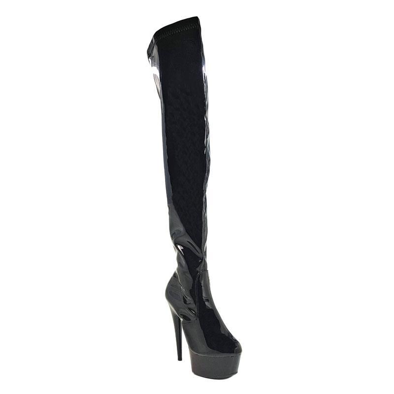 Leecabe 15 см Полюс танцы, сексуальные ультра-высокие сапоги для верховой езды чистый цвет, сексуальная танцовщица на высоком каблуке, Стрип обувь