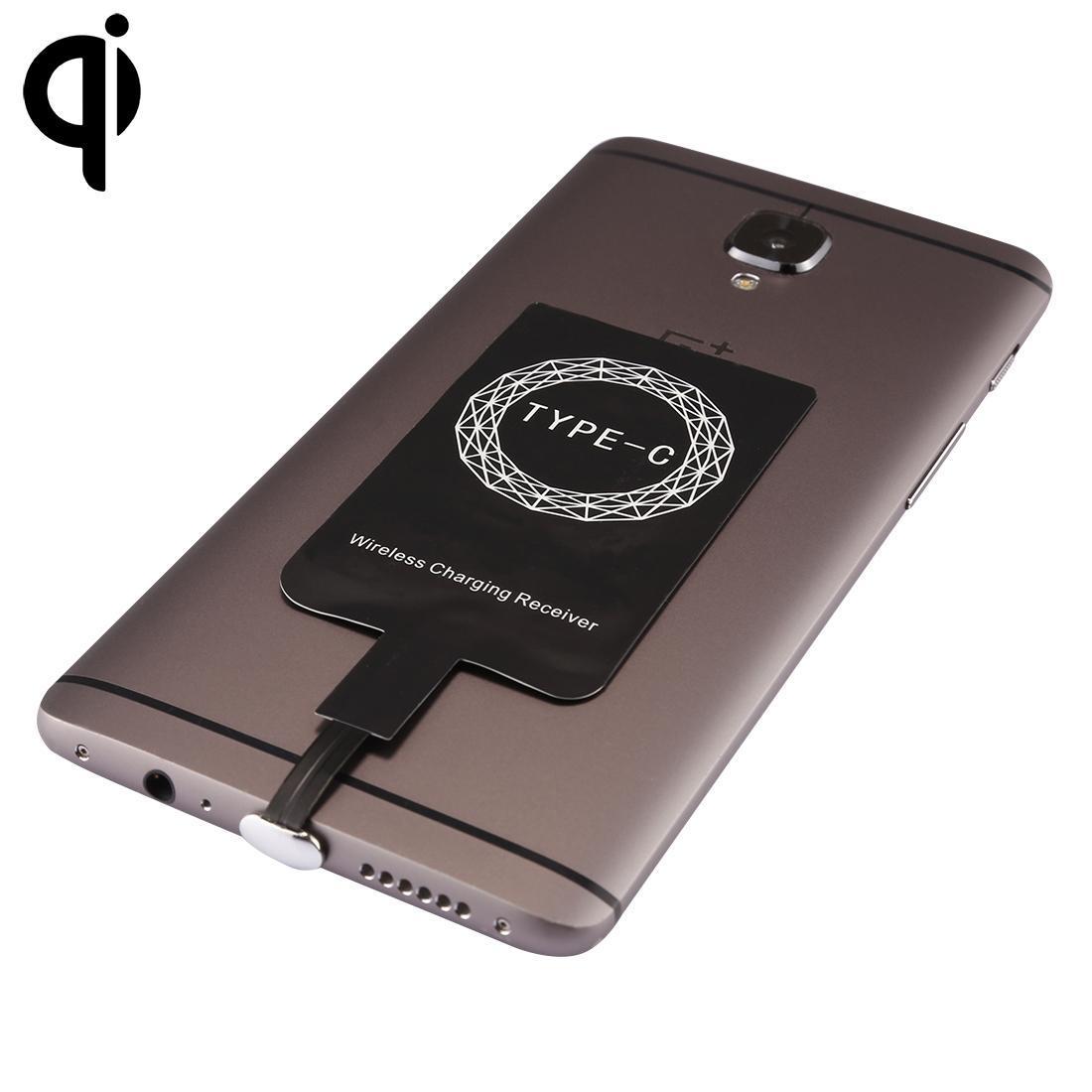 5V 800mAh Qi standard wireless di ricarica Ricevitore con USB-C / C Type-Port, per Huawei, HTC, Xiaomi, Meizu, LeTV, Nokia, Google, e OnePlus