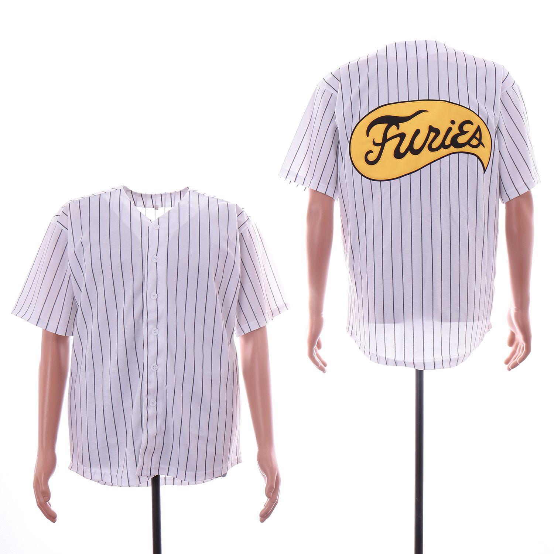 온라인 전사 격노 뉴저지 화이트 핀 스트라이프 스티치 남성 셔츠 뜨거운 판매 저렴한 야구 유니폼 아울렛