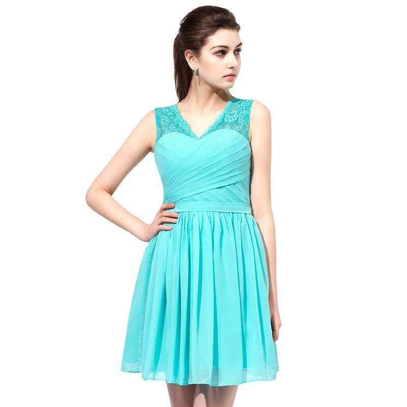Мода темно-синий 2019 платья невесты шифон V-образным вырезом простой горничной платье вечерние платья вечернее платье выпускного вечера на складе SD358