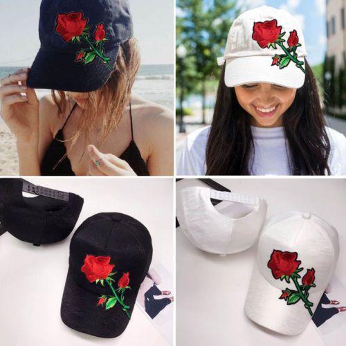 Nuovo delle donne degli uomini Berretto da baseball di Hip Hop-cappello registrabile Snapback Sport unisex floreale della Rosa Nuovo caldo