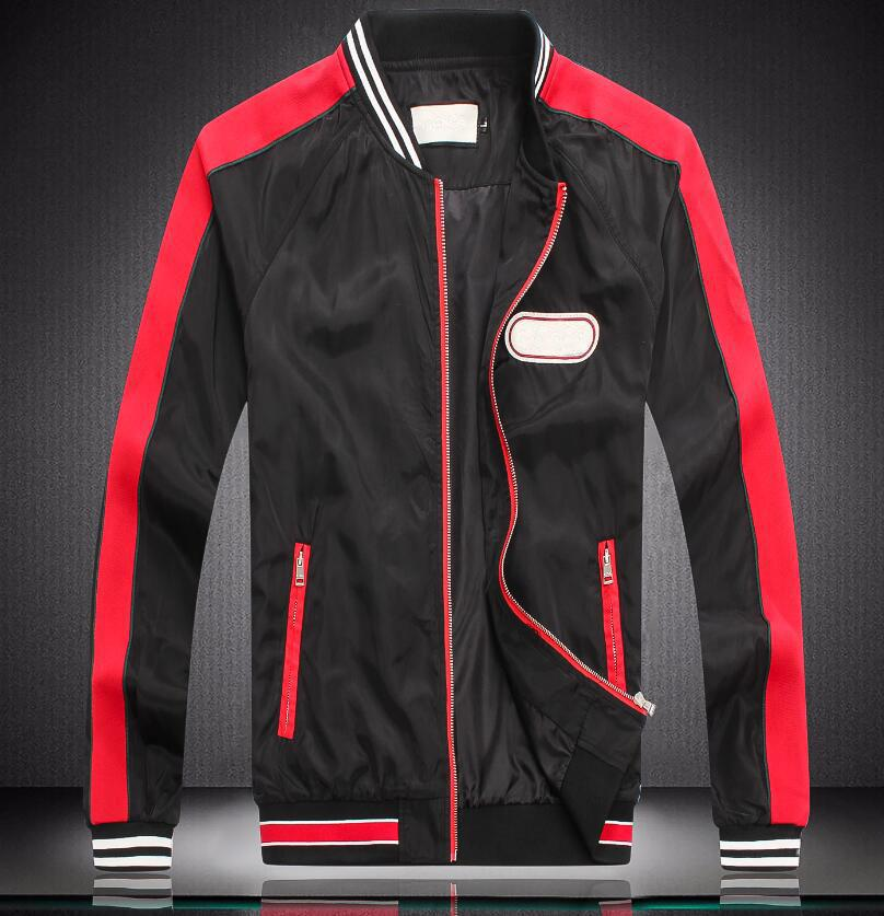 Hombres de diseno la chaqueta con capucha Marca rompevientos Chaqueta para los hombres de la cremallera Marca Logo Escudo chaqueta delgada de lujo tamaño M-XXXL