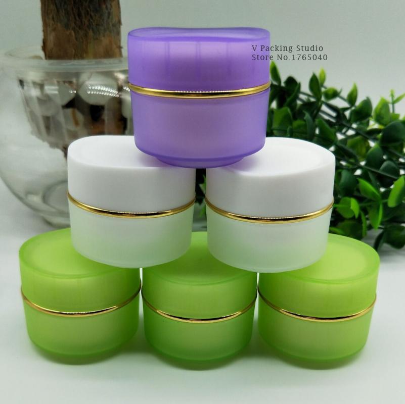 15-20ml Colorido frasco de crema cosmética vacía frasco de crema de acrílico tapa de botella / Sub botella / cosméticos vidrio 200pcs / lot