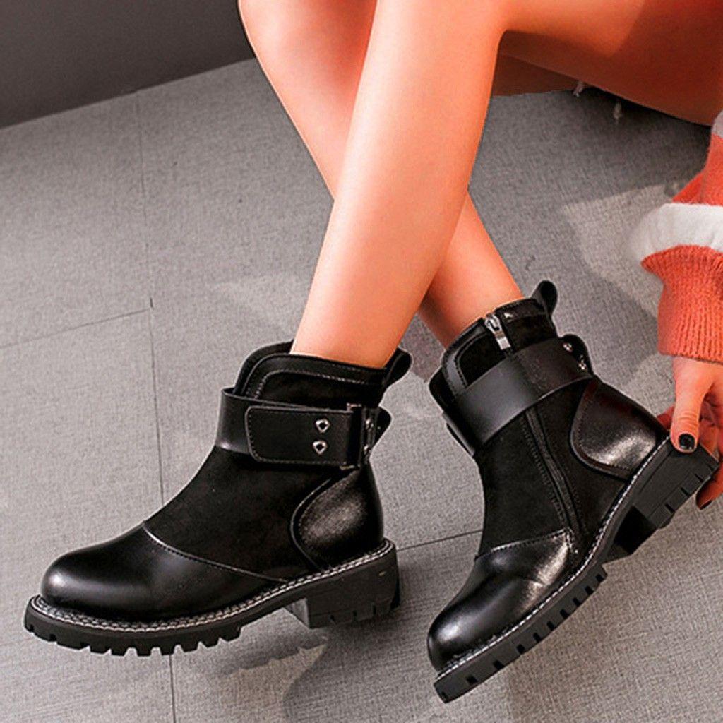 2019 pattini di cuoio genuini Stivali da donna per l'inverno caricamenti del sistema della donna dei pattini casual primavera fibbia in pelle Botas Mujer femminile caviglia