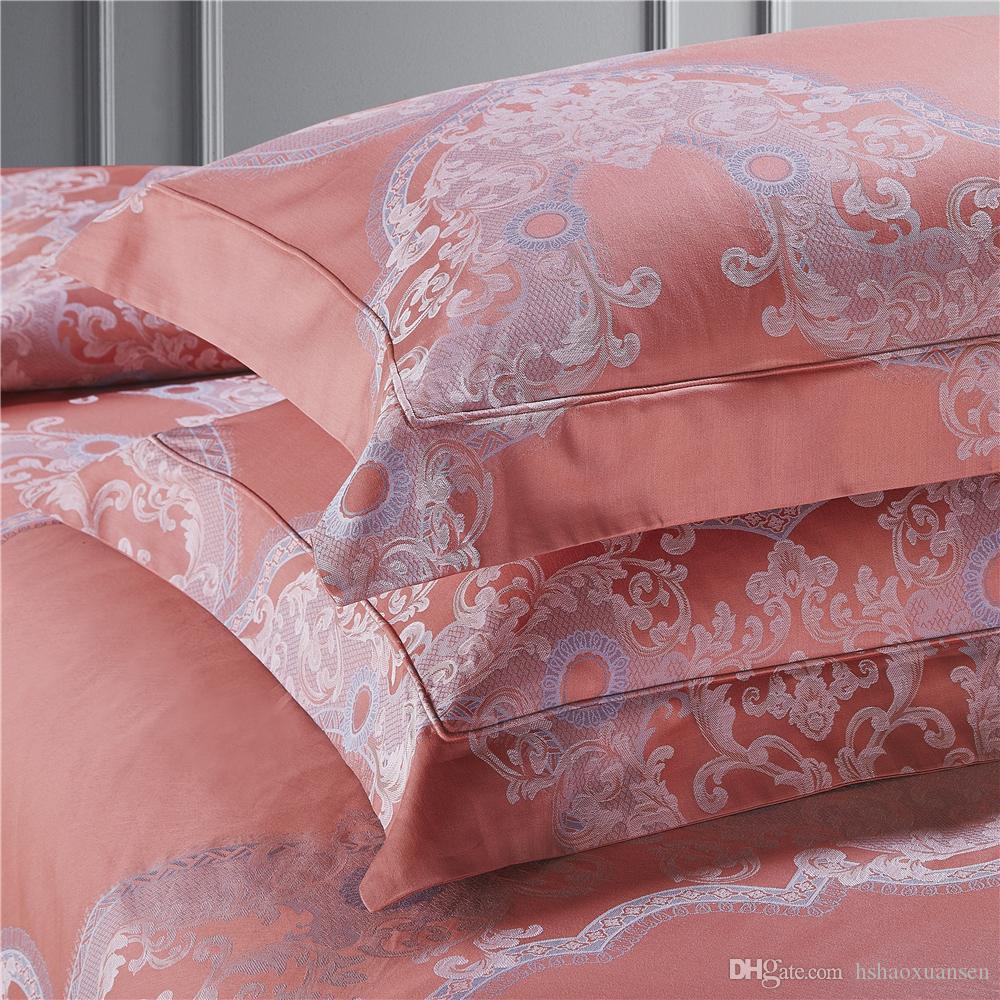 0,5 M de algodón satén sustancia vintage con patrones paisley azul rosa en blanco