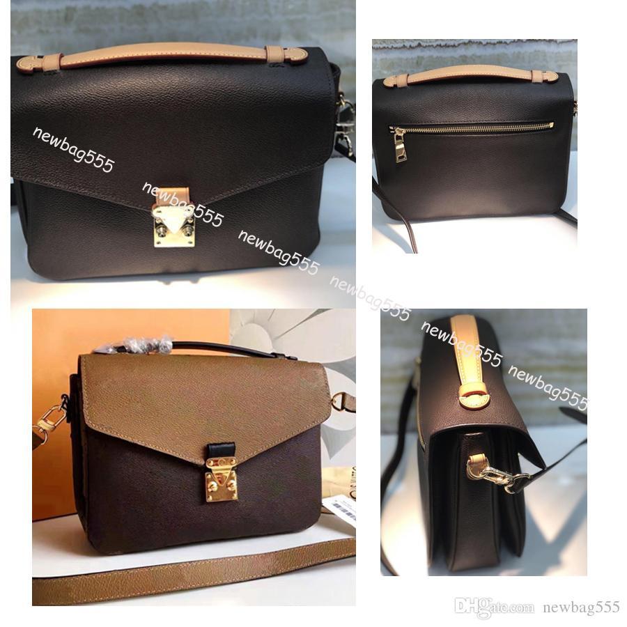 Las mujeres de diseño caliente del mensajero del bolso de cuero oxidante POCHETTE metis bolsas de hombro elegantes bolsos crossbody compras garras monedero 40780