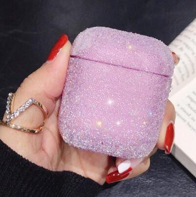 Cristal de diamant Brillante Glistening Bingbing Case For Cover Airpods1 / 2 Protecteur PC pour pods Air AirPod écouteurs sans fil Étui