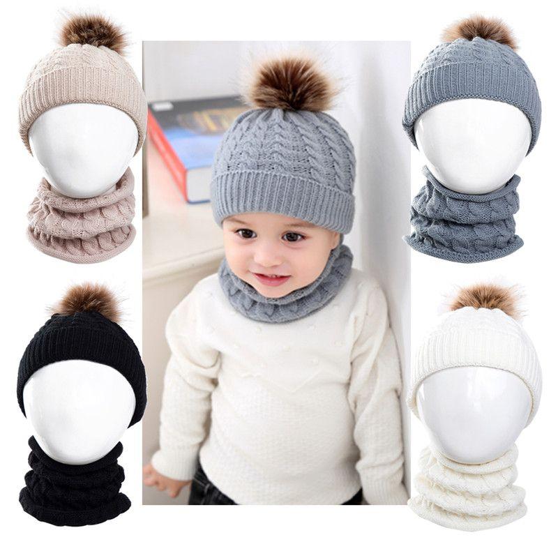 New Toddler Kids Girl/&Boy Baby Infant Winter Warm Crochet Knit Hat Beanie Cap UK