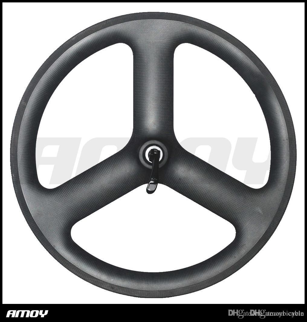 carbon wheels 451 spokes 3 spokes wheels road/track/fixed gear V brake 20 inch folding tri spokes bicycle wheelset