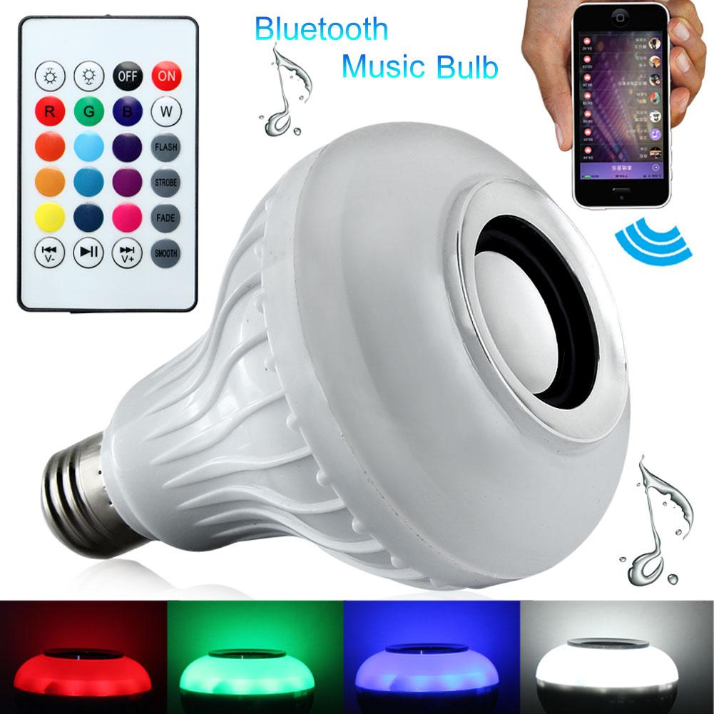 Горячая смарт-беспроводная bluetooth лампочка динамик красочная поддержка нет необходимости приложение многоцветный беспроводной крытый динамик лампа аудио динамик e27 rgb