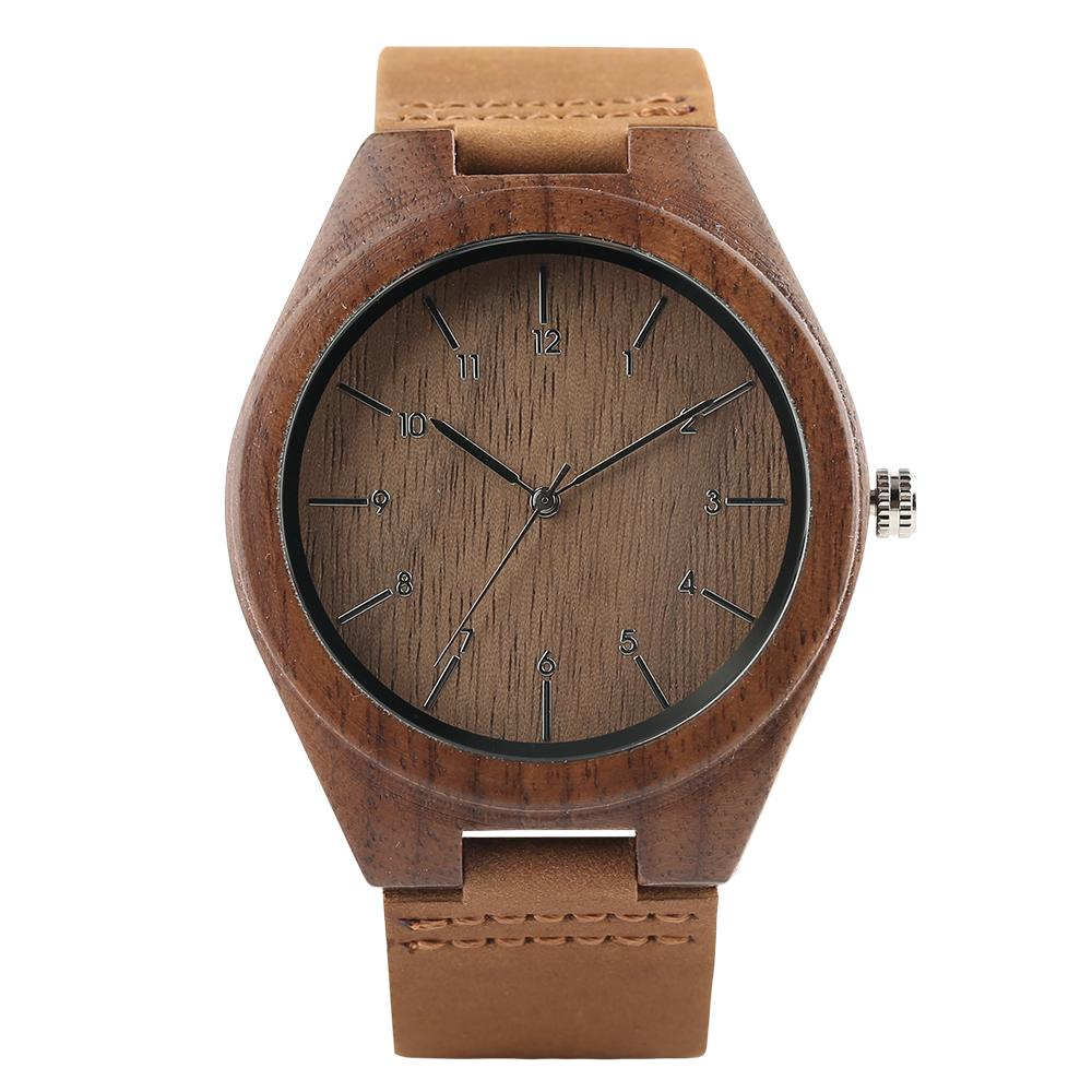 2020 شعار مخصص الرجال الخشب ساعة بني الجوز الخشبية عالية الجودة ووتش WristwatchesMale dropshiping من شحن مجاني