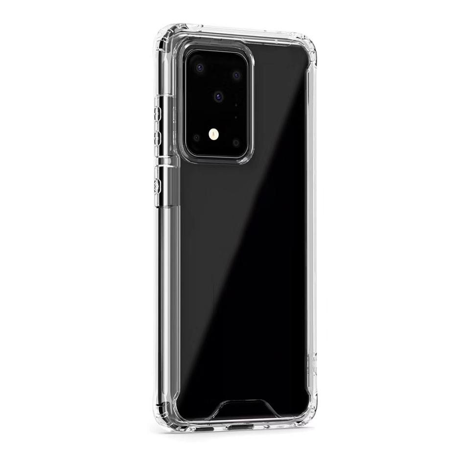 Luxury Clear Acrylic TPU PC Phone Case for iPhone 11 Pro XS XR 8 Samsung Note 10 S10 S9 Plus Hard Clear Cover