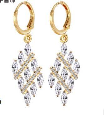 2 пары / много мода кристалл алмаза женские серьги up-market подарок бесплатная доставка m) 6 b