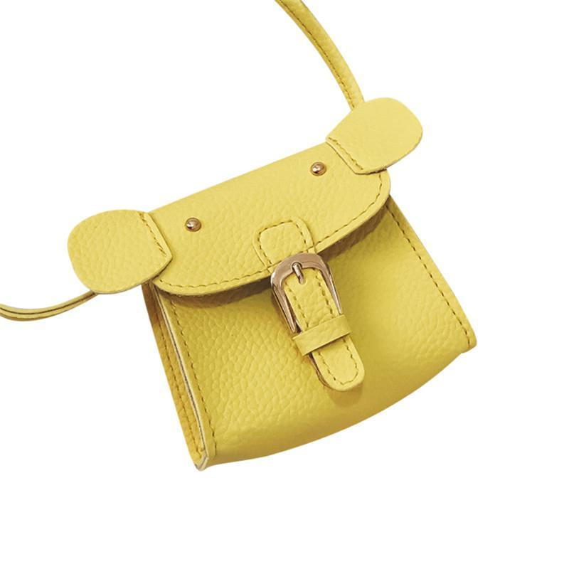 PU Leather Tassel Shoulder Bag Small Coin Purse Bag Crossbody Satchel for Kids,Yellow