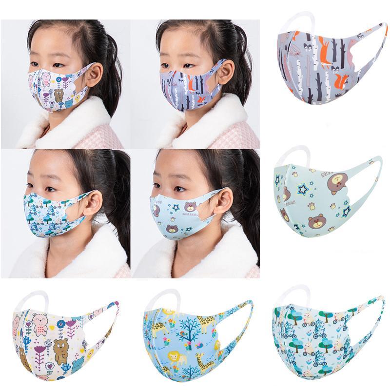 Niños máscara de la cara animal de la historieta impreso oso polvo máscara máscaras lavable reutilizable Máscara facial protectora al por mayor de moda infantil