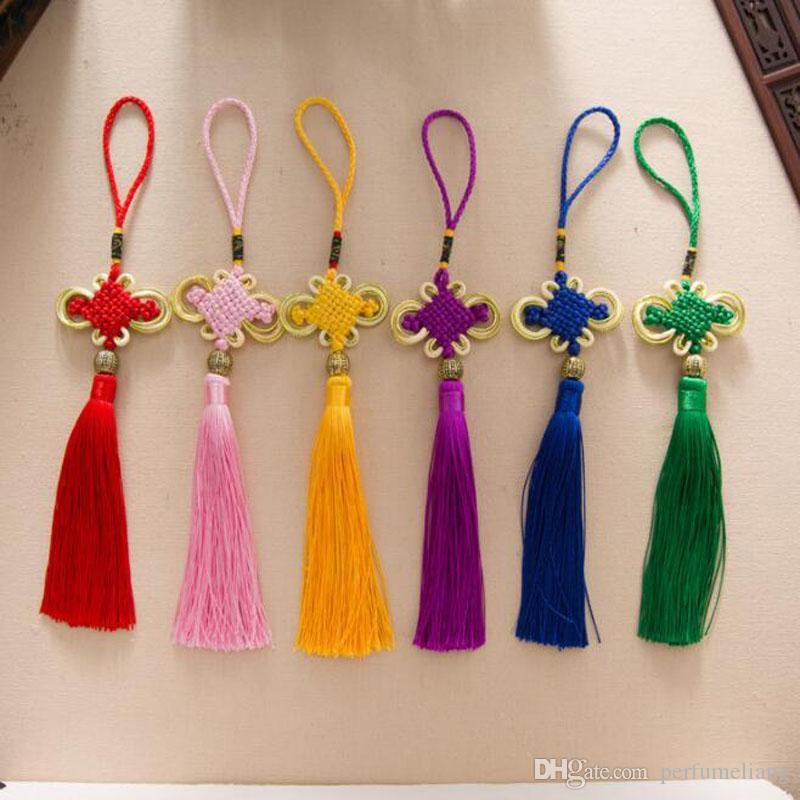 Chinese Quaste Craft Knoten Quaste Anhänger Hauptdekoration chinesische Eigenschaften Geschenk Ornaments Anhänger Fast Shipping ZC1946